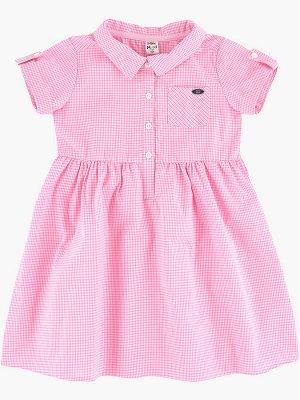 Платье в клетку (98-122см) UD 2684(3)мелк.роз клетка