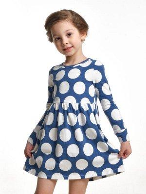 Платье в горох (98-122см) UD 2683 синий