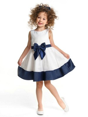 Платье UD 6885 бел/синий