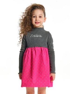 Платье, UD 2503 граф/малина