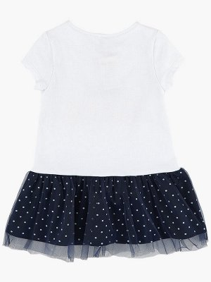 Платье (98-122см) UD 6040(2)бел/синий