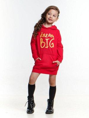 Платье с капюшоном (92-116см) UD 4096(1)красный