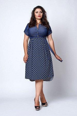 Платье 562-4 горох