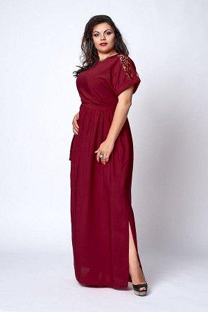 Платье 561-6 бордо