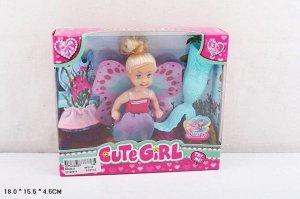 "Кукла ""Маленькая русалка"" , с аксесс.,кор. 18*15,5*45 см"