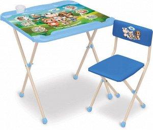 "Набор мебели ""Кто чей малыш?"" (стол+ мягк. моющ. стул) тм NIKA"