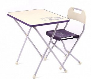 """Набор мебели """"Ретро""""  (стол +мягкий стул) сиреневый с бежевым"""