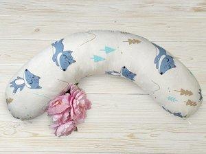 """Подушка для беременных """"AmaroBaby"""" 25*170 см. (файбер, бязь) В лесу"""