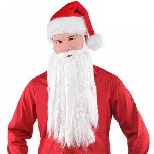 Борода Санта Клауса 40см/А
