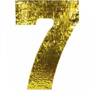 Пиньята Цифра 7 Золото
