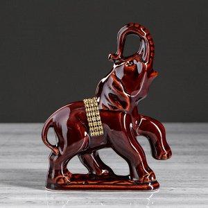 """Набор статуэток """"Слоны"""". коричневый. 7 предметов"""