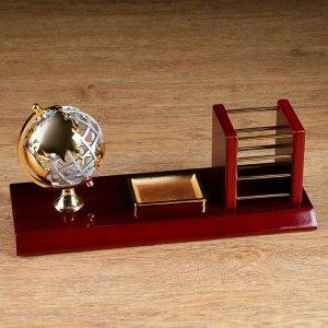 Набор настольный 3в1 (глобус, карандашница, лоток д/скрепок) 14*31см