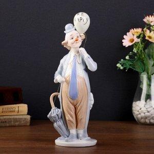 """Сувенир керамика """"Полный клоун с воздушным шариком"""" 27х14х6 см"""
