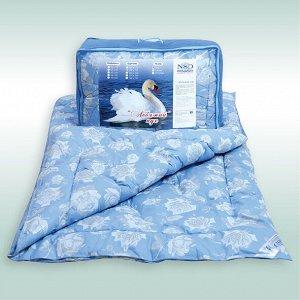"Одеяло ""Лебяжий пух"" тик чемодан (размер: 145*210)"
