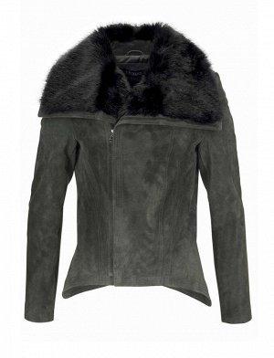 Кожаная куртка, оливковая