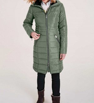 Пальто, зеленое