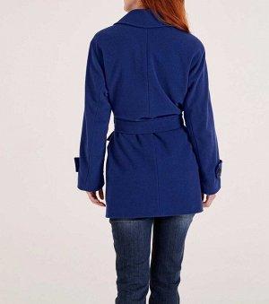 Пальто, синее