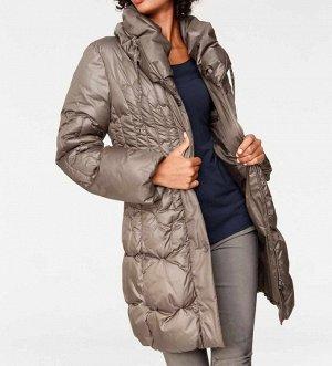 Пальто, серо-бежевое
