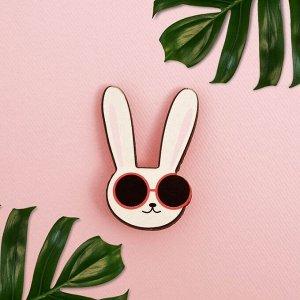 Значок в коробочке «Заяц» 5 х 4 см