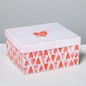 Коробка складная «Любовь вокруг», 31,2 х 25,6 х 16,1 см