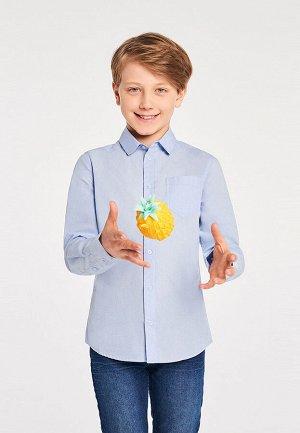 Сорочка верхняя детская для мальчиков Kol голубой