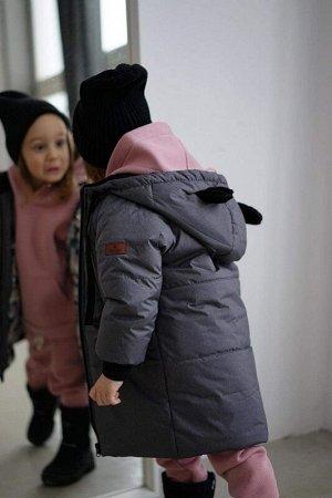 Пальто зима Мишка Графит