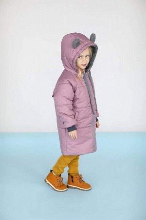 Пальто зима Мишка Розовый