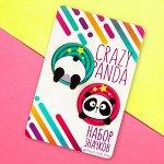 Значок на подложке «Crazy panda» 8 х 12 см