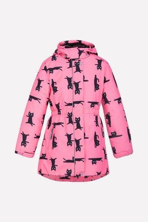 Куртка Цвет: розовый, котики; Утеплитель: с утеплителем; Вид изделия: Изделия из мембраны; Рисунок: розовый, котики; Сезон: Осень-Зима Зимняя куртка для девочки, на подкладке с утеплителем SEE 250г/м