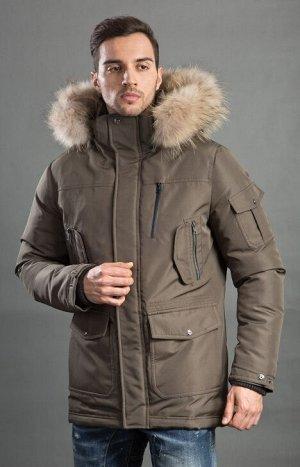 Мужская зимняя куртка-парка Hermzi, цвет ХАКИ