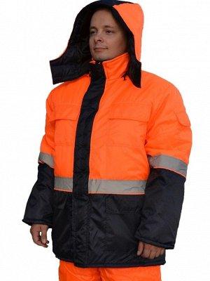 Куртка Куртка прямого силуэта с застёжкой на молнию и ветрозащитным клапаном на липуче. По рукавам и по линии талии проходят светоотражающие полосы. Имеется съёмный капюшон. Ткань (материал)Оксфорд Со