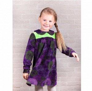 Платье велюр 268В для девочки