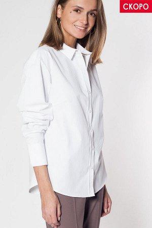 Базовая рубашка из фактурного хлопка, D29.671