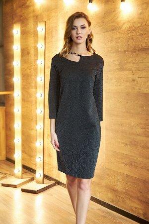 Платье Платье Fantazia Mod 3623  Состав: Вискоза-58%; Эластан-4%; Нейлон-28%; Люрекс-10%; Сезон: Осень-Зима Рост: 164  Универсальное женское платье - оно не только удобно, но и красиво сочетает в себ