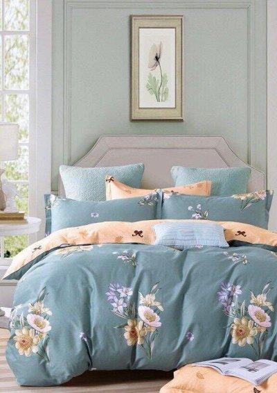 СВК текстиль для спальни. Бюджетно — КПБ Candie's Двухсторонний на резинке по углам — Двуспальные и евро комплекты