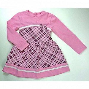 Платье 7104/7 (розовая клетка)