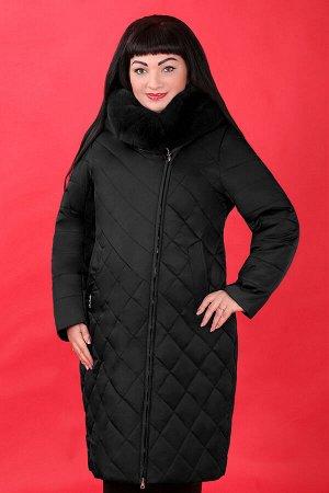 Черный Внимание: меховая отделка воротника съемная. Примечание: замеры длин соответствуют размеру 52. Длина пальто: 104 см. Длина рукава: 67 см. Подкладка: есть, синтепон. Застежка: молния спереди. Ка