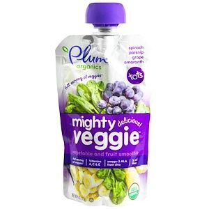 Plum Organics, Mighty Veggie, Veggie (113 g)