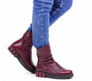 Ботинки кожа бордо демисезон