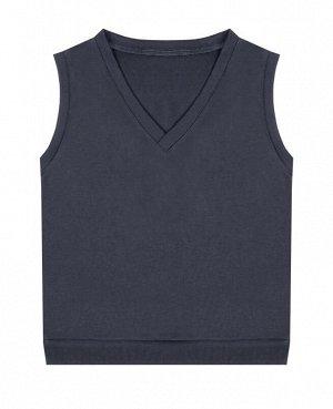 Школьный серый жилет для мальчика Цвет: серый