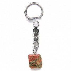 BK013 Брелок с натуральным камнем Унакит