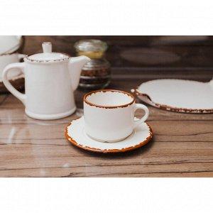 Чайная пара «Antica perla»: чашка 200 мл, блюдце 15,5 см