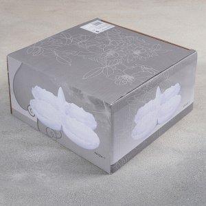 Менажница «Винтаж», 4 секции, 24?11 см, цвет белый