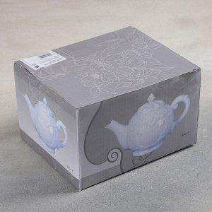 Чайник заварочный «Винтаж», 900 мл, 23?13?16 см, цвет белый