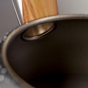 Чайник со свистком Stone, 2,7 л, ручка soft-touch, индукция, цвет чёрный