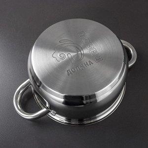 Набор посуды «Гретте» 3 шт : ковш 1,25 л (d=16 см), кастрюли 2,0 л (d=18 см), 3,7 л (d=22 см)