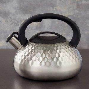 Чайник со свистком Magistro, 3 л, индукция, ручка soft-touch