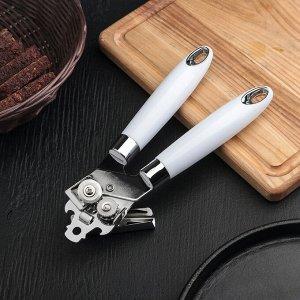 Нож консервный Доляна «Скина», 22,5 см, цвет белый