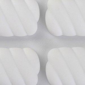 Форма для муссовых десертов и выпечки Доляна «Корде», 30?17,5 см, 9 ячеек, цвет белый