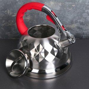 Чайник со свистком «Стар» 3 л, индукция, ручка soft-touch, цвет МИКС